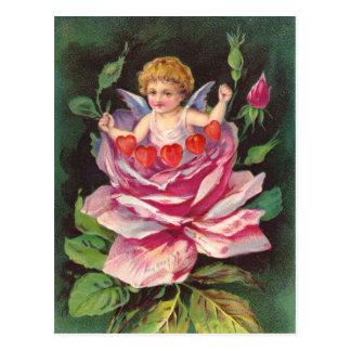 Carte Postale Clapsaddle : L'ange de fleur s'est levé