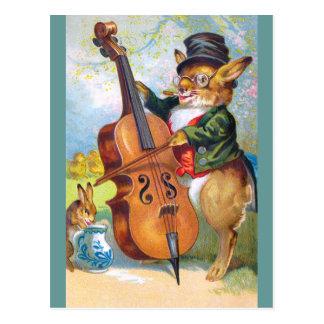 Carte Postale Clapsaddle : Lapin avec le violoncelle