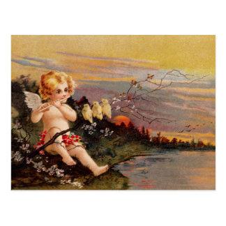 Carte Postale Clapsaddle : Petit ange avec la cannelure et les