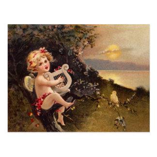 Carte Postale Clapsaddle : Petit ange avec l'harpe
