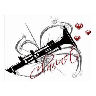 Carte Postale Clarinette d'amour