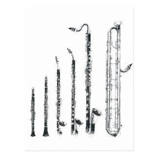 Carte Postale clarinettes