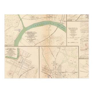 Carte Postale Clarksville, Tenn, Dalton, GA