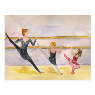 Carte Postale Classe de ballet