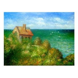 Carte Postale Claude Monet : Cottage de Fishermans chez