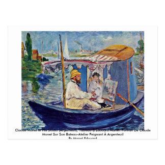 Carte Postale Claude Monet dans son studio (Argenteuil)