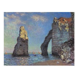 Carte Postale Claude Monet - falaises chez Etretat