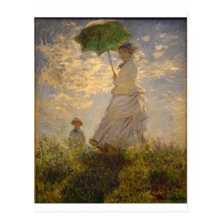 Carte Postale Claude Monet : Femme avec un parasol, 1875