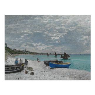 Carte Postale Claude Monet - la plage chez Sainte-Adresse