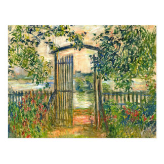 Carte Postale Claude Monet : La porte de jardin chez Vetheuil
