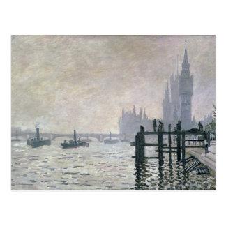Carte Postale Claude Monet | la Tamise au-dessous de Westminster