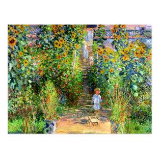 Carte Postale Claude Monet : Le jardin de Monet chez Vétheuil