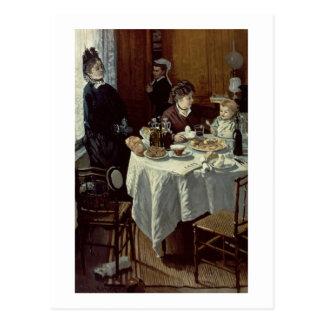 Carte Postale Claude Monet | le petit déjeuner