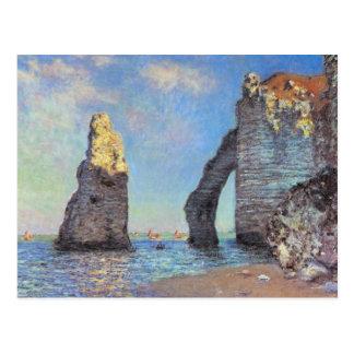 Carte Postale Claude Monet //les falaises chez Etretat
