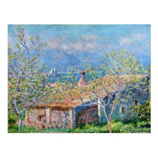 Carte Postale Claude Monet : Les jardiniers logent à Antibes