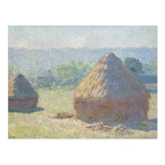 Carte Postale Claude Monet - meules de foin, fin d'été