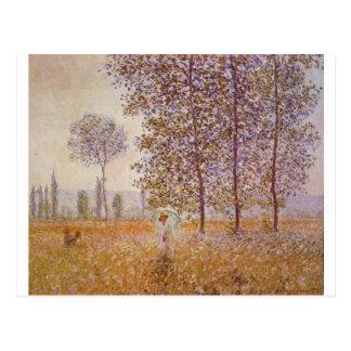 Carte Postale Claude Monet - peupliers au soleil