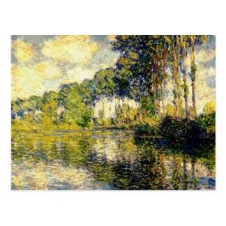 Carte Postale Claude Monet - peupliers sur l'Epte