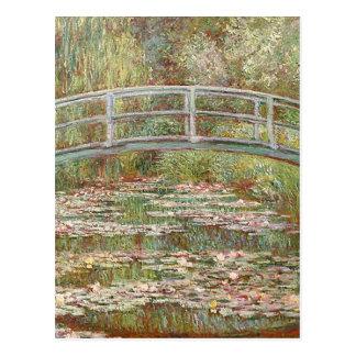 Carte Postale Claude Monet - pont au-dessus d'un étang des