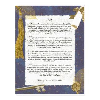 Carte Postale Clé à l'avenir SI par Rudyard Kipling