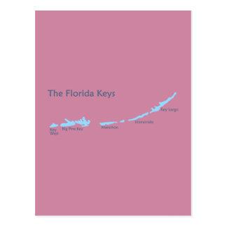 Carte Postale Clés de la Floride