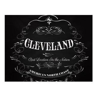 Carte Postale Cleveland Ohio - côte du nord de l'Amérique
