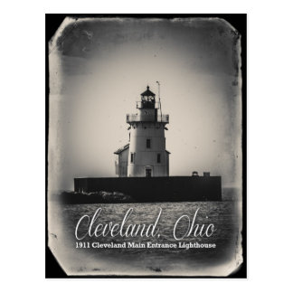 Carte Postale Cleveland, Ohio - phare de l'entrée 1911