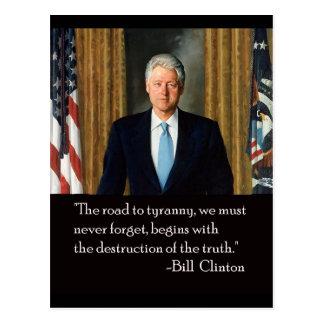 Carte Postale Clinton et vérité