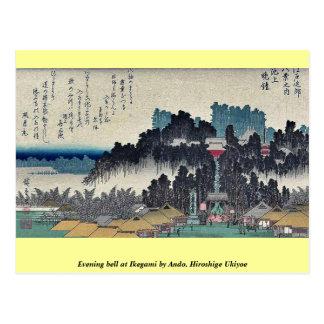 Carte Postale Cloche de soirée chez Ikegami par Ando, Hiroshige