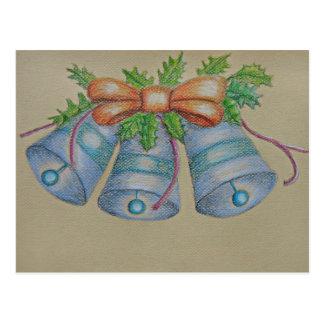 Carte Postale cloches bleues