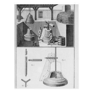 Carte Postale Cloches de bâti, illustration de 'Encyclopedia