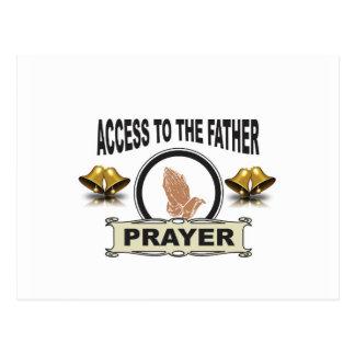 Carte Postale cloches de l'accès de prière