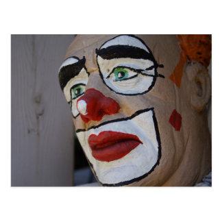 Carte Postale Clown avec le regard triste