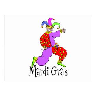 Carte Postale Clown de mardi gras