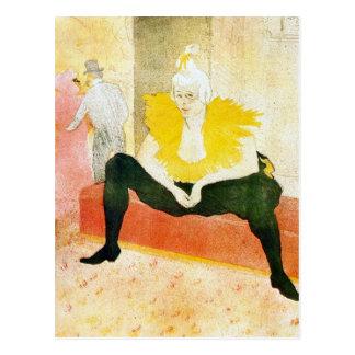 Carte Postale Clown s'asseyant par Toulouse-Lautrec