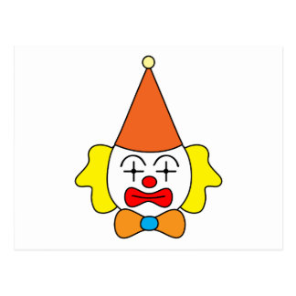 Carte Postale Clown - visage drôle