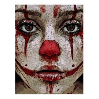 Carte Postale Clown's face