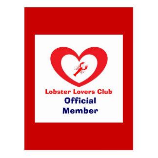 Carte Postale Club d'amants de homard - membre officiel