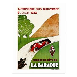 Carte Postale Club d'automobile D'Auvergne 1933