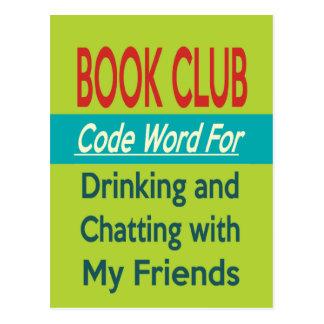 Carte Postale Club de lecture - codez le mot