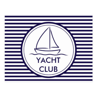 Carte Postale Club de yacht