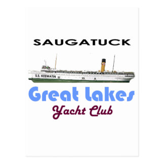 Carte Postale Club de yacht de Saugatuck Douglas Michigan Great