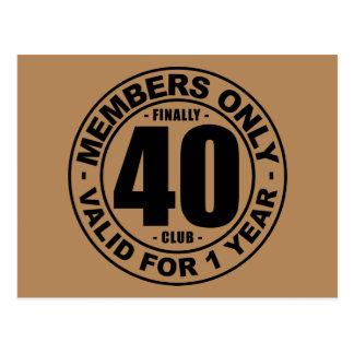 Carte Postale Club enfin 40