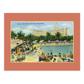 Carte Postale Club vintage de Sun et plaza Miami Beach de Roney