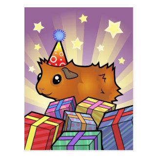 Carte Postale Cobaye d'anniversaire (délabré)