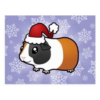 Carte Postale Cobaye de Noël (cheveux lisses)