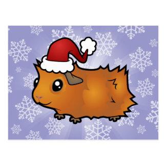 Carte Postale Cobaye de Noël (délabré)