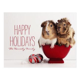 Carte Postale Cobayes avec la boule de Noël