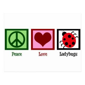 Carte Postale Coccinelles d'amour de paix