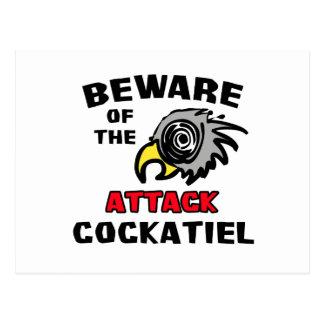 Carte Postale Cockatiel d'attaque